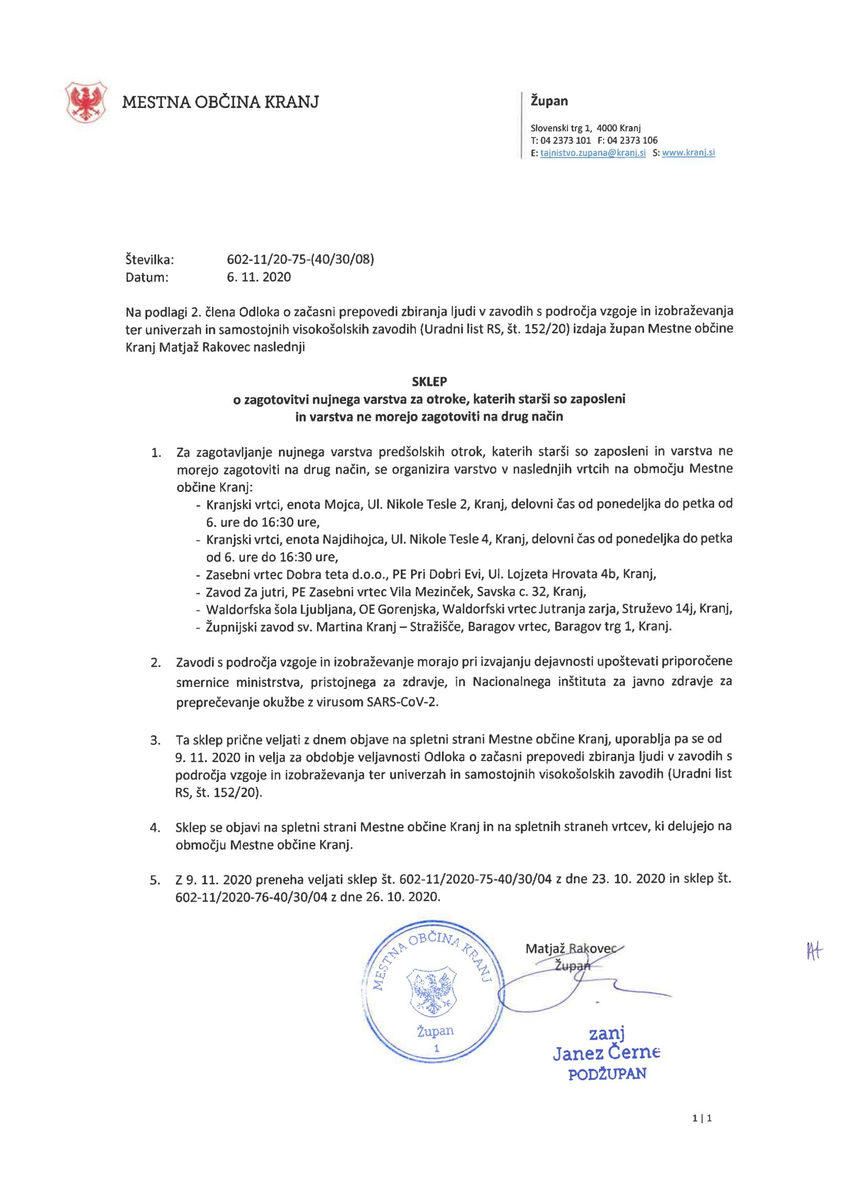 sklep župana - omejeno delovanje vrtcev-6-11-2020-1